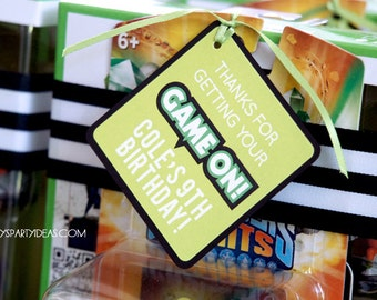 Video Game Birthday Party  | Gamer  Party Favor Tags & Sign | Gamer Decorations | Truck | Video Game |LuluCole
