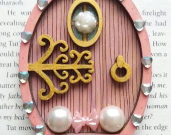 Pink fairy door. Fairy door. Fairy gift. Tooth fairy door. Fairy house. Fairy garden. Personalised fairy door. Pink fairy. Fairy decor.