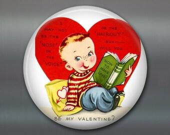 """3.5"""" vintage valentine magnet valentine fridge magnet kitchen decor large magnet school valentine card MA-1358"""