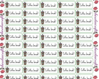 Coffee Break Starbucks Inspired Stickers