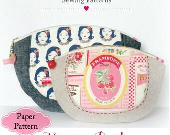 Macaroon Zipper Pouch Pattern - Printed Pattern