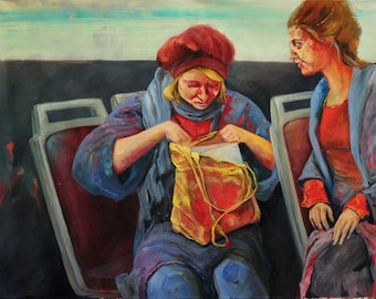 Figurative painting, figurative, expressive, oil painting, art