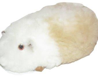Handmade Stuffed Guinea Pig with Alpaca Fur Peruvian, Peruvian stuffed Animal; Unique and Special Gift; Peruvian Craft Gift
