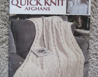 Knit Pattern Book - Big Book of Quick Knit Afghans - 24 Designs to Create - Vintage 1999