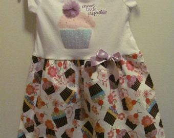 Upcycled Sweet LIttle Cupcake Dress, Wonder Kids size 3T