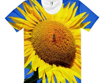 Bee Bold and order this shirt with a sunflower.