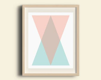 Geometric Art, Triangle Art, Geometric Print, Scandinavian Art, Minimalist Poster, Wall Decor, Modern Home Decor