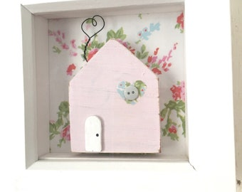 Little Wooden House in Frame - (Personalised)