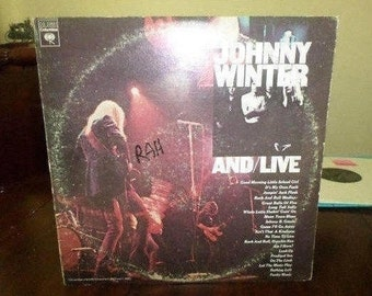 Vintage 1975 Vinyl LP Record Set And Live Johnny Winter And Excellent Condition 6523