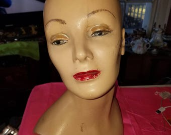 My Head Is Naked 1970s 1980s Mannequin Turned Head Bust