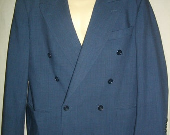 Navy Blue Hugo Boss 38SH Medium M  Zeus/Acropolis Double Breasted Jacket