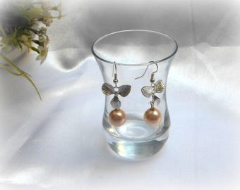 OLIVA - Light pink fresh water Pearl Earrings