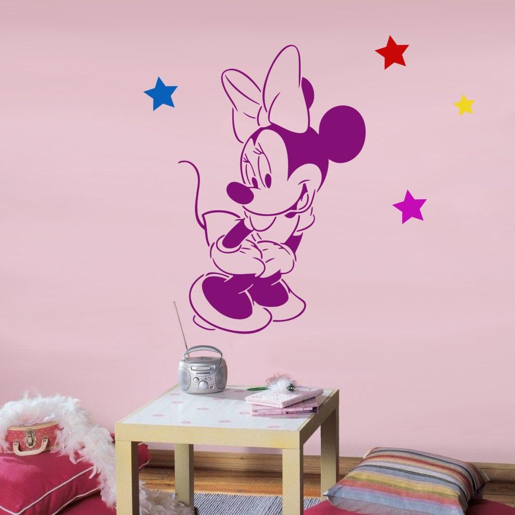 Disney minnie mouse pochoir r utilisable pour chambre denfant - Pochoir mural chambre ...