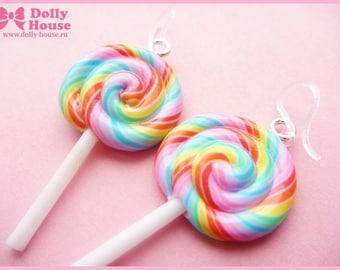Sweet kawaii Lollipop Earrings by Dolly House