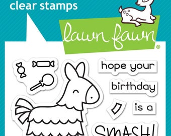 Lawn Fawn Clear Photopolymer Rubber Stamp set - Year Seven