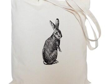 Tote bag/ drawstring bag/ cotton bag/ material shopping bag/ rabbit/ shoe bag/ gift bag/ animal/ market bag