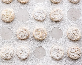 Powdered Sugar Cookies Photograph, Food Photography, Photo Print, Large Wall Art, Kitchen Decor, Home Decor, Dining Room Decor, Bakery Decor