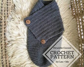 Swaddle Cocoon Crochet Pattern // Crochet Baby Pattern // Swaddle Blanket // Baby Photography Photo Prop // Newborn Baby Gift