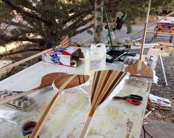 SUP Custom Wood Paddles