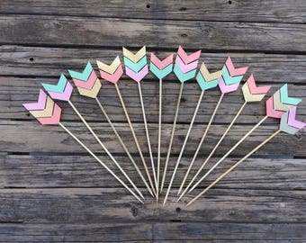 Tribal Party Skewer Stick - Arrows, Tribal Party, Tribal Center Piece, Wild One Party, Birthday Party, Party Decorations