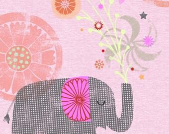 "Elephant Celebration  8""x10"" Archival Print - children's wall art - nursery poster"