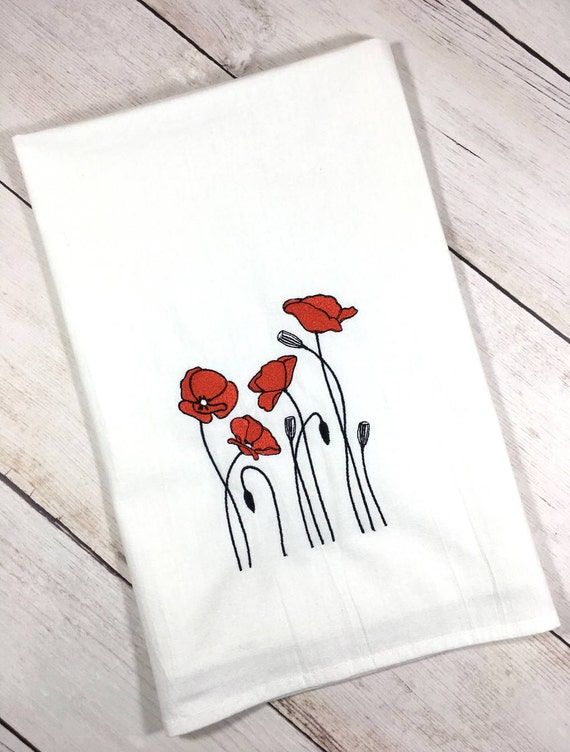 Beau Red Poppy Tea Towel, Red Poppy Kitchen Towel, Poppy Flour Sack Towel, Poppy  Kitchen Decor, Poppy Home Decor, Modern Farmhouse Decor