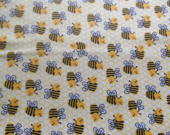 Bumblebee Flannel Pillow case, cozy,VT made