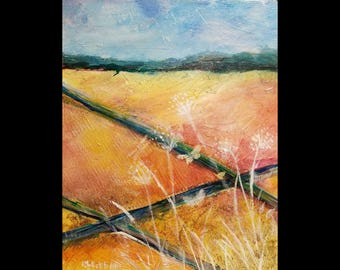 """A Land Of Milk And Honey-- 16""""x20""""x1.5"""" richly textured acrylic painting. Free shipping."""