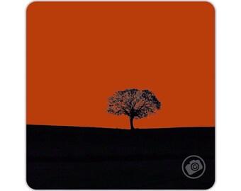 Tree Sunset   Tea Coaster   Coffee Coaster   Drinks Mat   Photo Art Print   Silhoutte Tree
