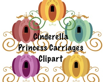 Fairytale Cinderella Carriage Clipart Images - by Graphic Devine