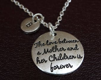 The love between a Mother and her Children is forever Necklace, Daughter Mother Necklace, Daughter Mother Jewelry, Daughter Mother Gift