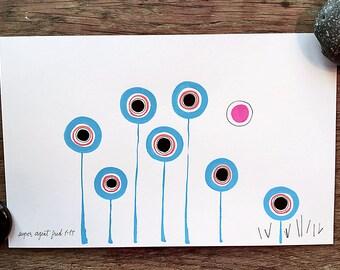 Circles : Orange, Black, and Blue