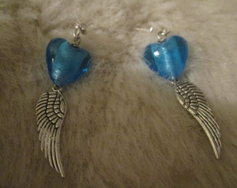 Supernatural inspired Castiel 'Too much heart'  earrings (angel wing)