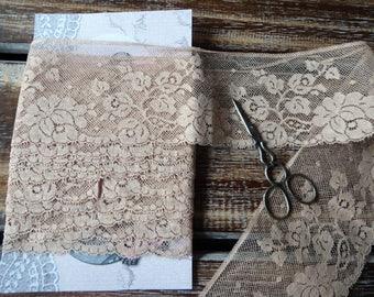"""Vintage Dentelle Valenciennes cotton lace, 2 1/2"""" wide, 3 yards"""