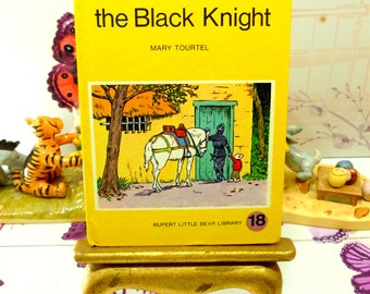 Rupert The Manikin and the Black Knight Mary Tourtel Little Bear Library number 18 1970s Vintage Hardback Rupert Book 1st Ed