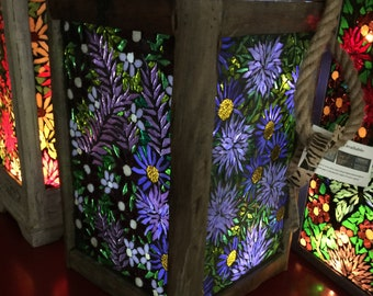 Gorgeous Purple stained glass lantern