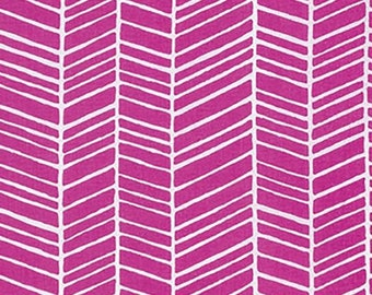 Fuchsia Herringbone - True Colors Collection by Joel Dewberry - Quilt fabric by the Half-Yard or Full Yard - Free Spirit Fabrics