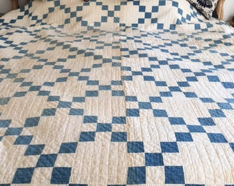 Single Irish Chain Antique Handmade Quilt