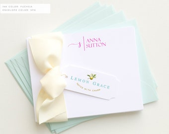 Personalized Stationery Set   Personalized Stationary   Monogram Stationary   Custom Stationary Set   Custom Note Cards