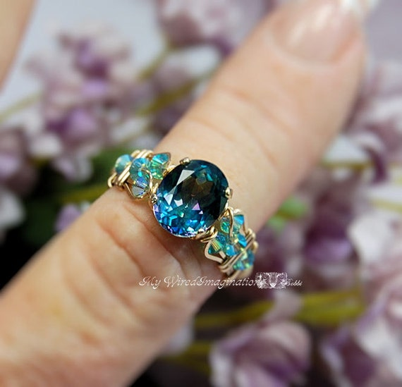 sterling ring com rings mystic diamond topaz amazon silver fire size and dp accented oval jewelry