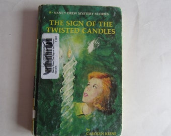 Nancy Drew The Sign of the Twisted Candles, Nancy Drew 1970s, Number 9, Nancy Drew vintage book, 1970s Nancy Drew book, Nancy Drew mystery