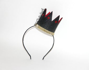 Queen of Hearts Crown // Alice in Wonderland Crown // by Born TuTu Rock