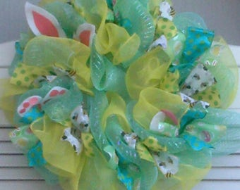 Easter/Spring Deco Mesh Wreath