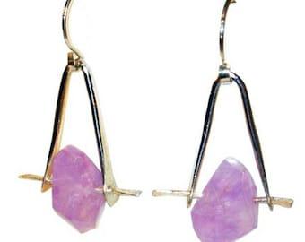 Pink Amethyst Sterling Earring
