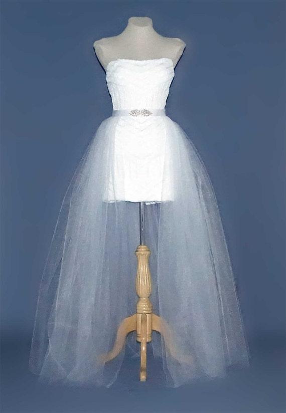 Wedding tulle skirt. Long tulle skirt. Tulle over skirt .