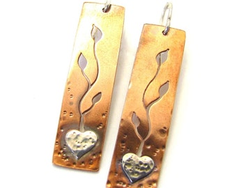 Grow Love, nature earrings