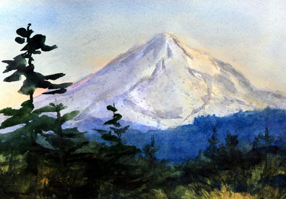 Mt. Hood 279 original watercolor painting by Bonnie White
