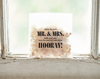 Wedding Confetti Bags // The Georgia