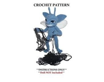 Blue Cornish Pixie - Trix the Pixie Crochet Doll Pattern