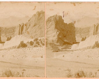 1898 Colorado, Gateway to Garden of the Gods, Pike's Peak Stereoview Photo
